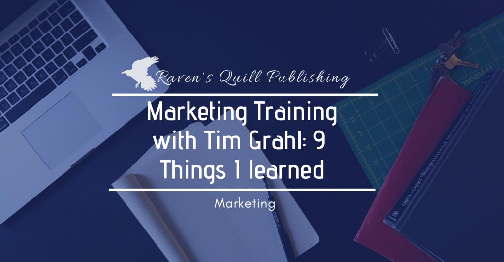 Training with Tim Grahl-book marketing