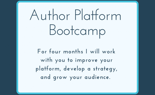 Get back to writing with Author Platform Bootcamp